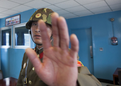 Picture Forbidden At Joint Security Area, Dmz, Panmunjom, North Korea by Eric Lafforgue on Flickr.