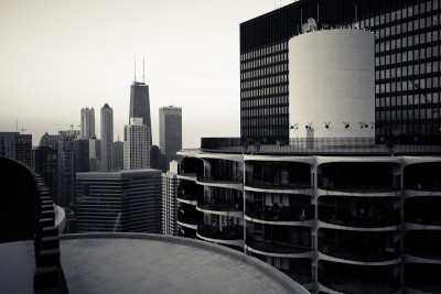 citylandscapes:  View of Chicago from the top of Marina CitySource: bromin8d (reddit)