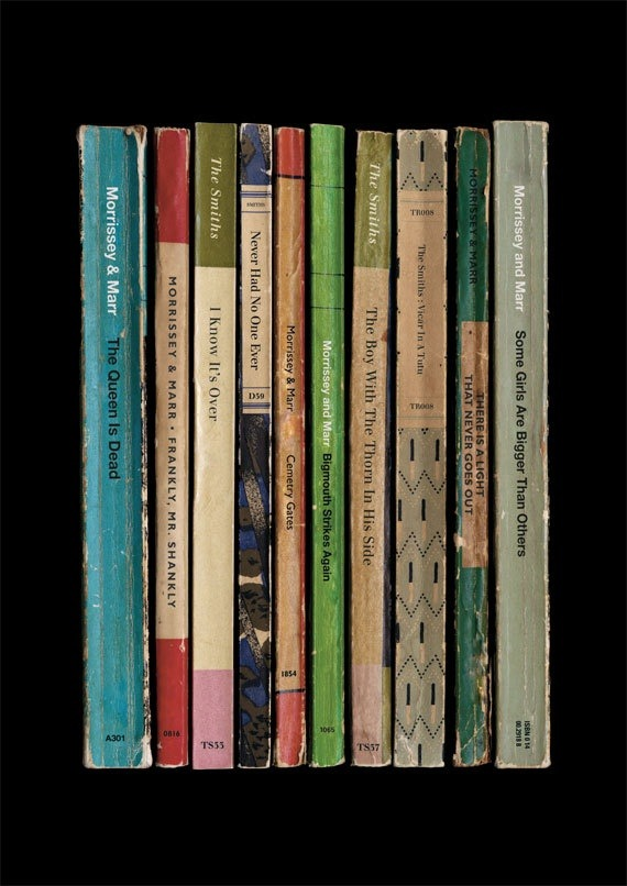 largeheartedboy:  The Smiths' The Queen Is Dead album as books print.