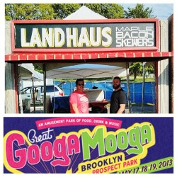 Mi brethren @landhausnyc @chefpeezie holding it down at @googamooga see y'all tomorrow! 🐖😍 #googamooga #landhaus #brooklyn #2013