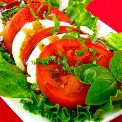 allrecipes:  Tomato Mozzarella Salad, photo by lutzflcat