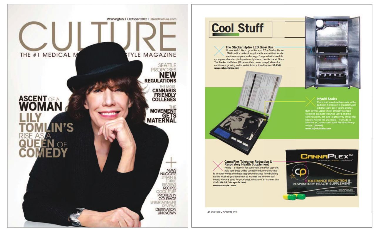 Check out CannaPlex™ in Culture Magazine's Cool Stuff section