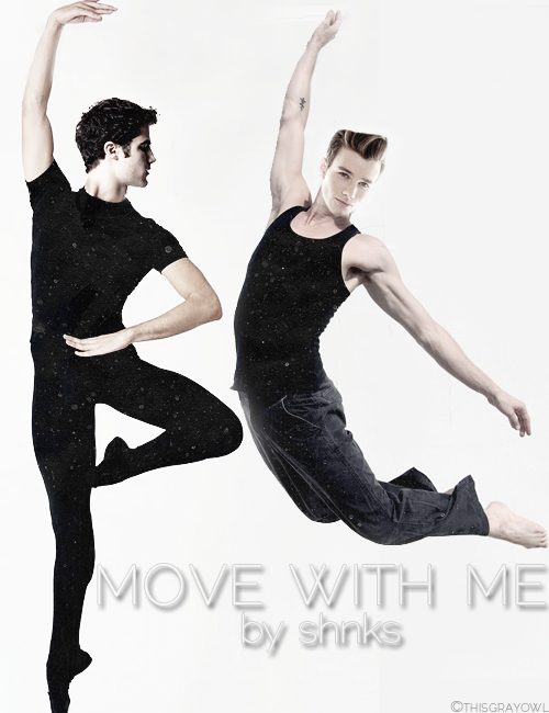 "thisgrayowl:  move with me by shnks  Ballet!Blaine and Modern!Kurt, forced to work together. ""They were at their best when they moved together."""