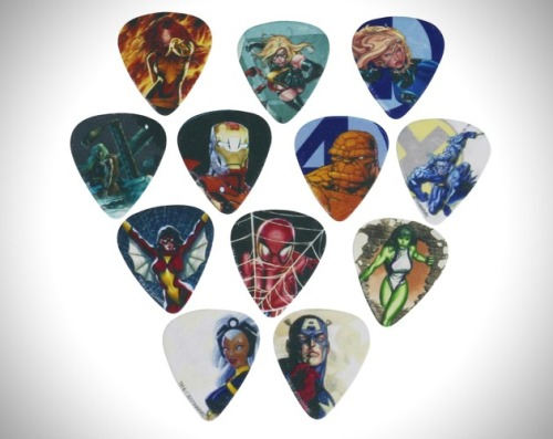 galenchandler:  MARVEL SUPERHERO GUITAR PICKS