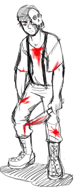 So I doodled some really messy zombiestuck Cal before work. I didn't feel like drawing his gun though. The design/concept of this AU belongs to this amazing artist, so go check out the original stuff!