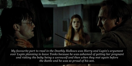 harrypotterconfessions:  I so wish it had been included in the film, because it delved further into Lupin's psychology and showed his relationship to Harry being much deeper than it was portrayed in the rest of the movies after POA.