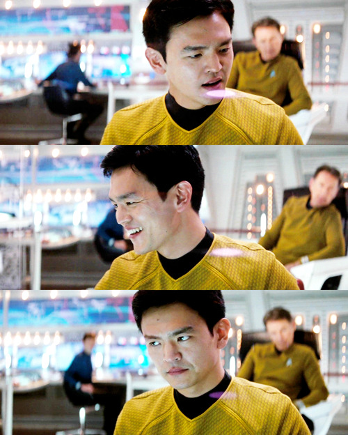 - I'm Hikaru Sulu. - And you are a pilot, right? - Very much so, sir.  Relevant.