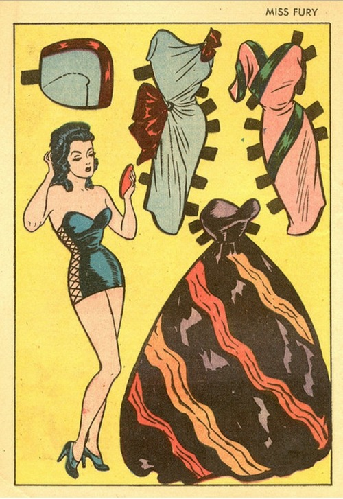 mudwerks:  (via Saved From The Paper Drive: Miss Fury Paper Dolls)