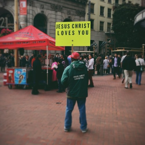 adconnect:  Always Reminding Us Of His Love #jesus  (at San Francisco)