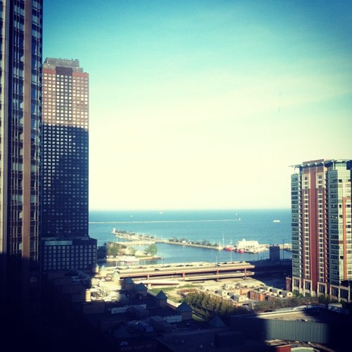 Room with a view. Now headed out to explore. #chicago