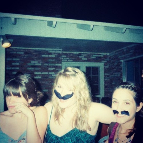using sideburns as a mustache. #mustacheparty #tbt #throwback @whatisachelsea @commandabitch <3