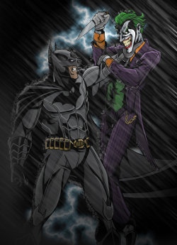 Batman vs. Joker IN COLORby ~TimelessUnknown