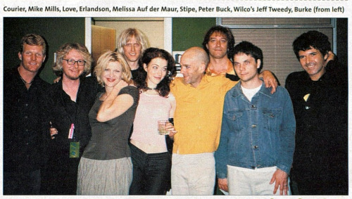 bibberly:  Members of R.E.M., Hole and Wilco in 1999.