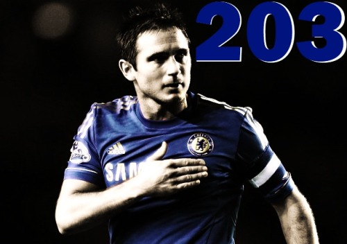 chelseablue10:  He's done it! No Chelsea player has ever scored more goals than Frank Lampard, one of the GREATEST midfielders of all time. …and to Roman Abramovich, remember who scored the two goals to guarantee the club a place in the Champions League next year.