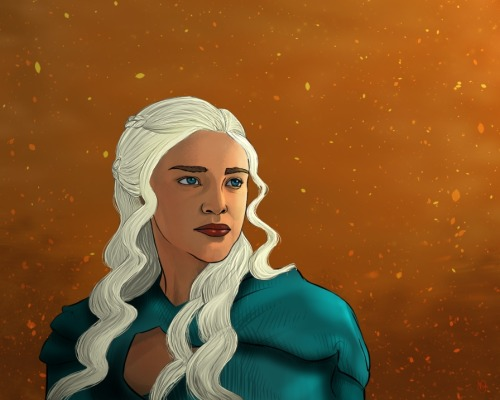 veloshe:  Sunday: Game of Thrones - Daenerys StormbornSome fanart from Sunday's episode. Spoiler free, of course. I had to draw Daenerys Stormborn. I am just waaay to smitten with her to not draw her. Constantly.