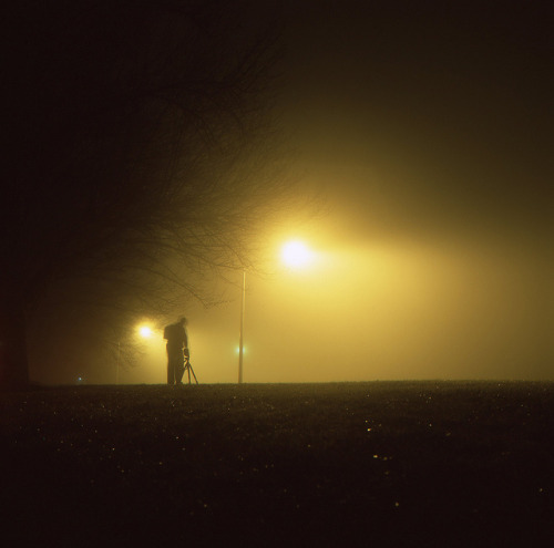 Josh Sinn took this shot of me during one of Baltimore's recent foggy nights. untitled by Josh Sinn on Flickr.