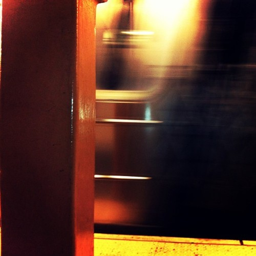 Waiting for the subway. April 06, 2013 at 05:43PM