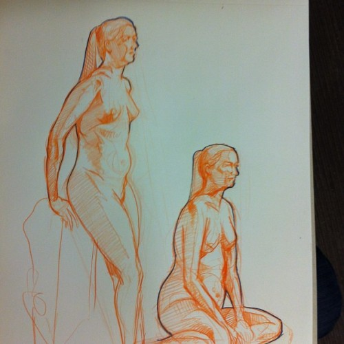 Figure drawing at Hipbone Studios.