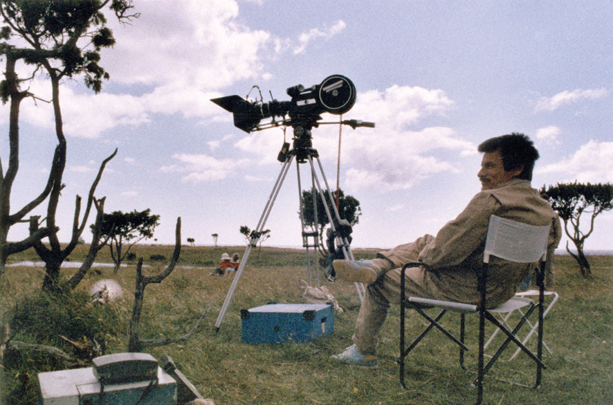 Tarkovsky on the set of The Sacrifice, 1985