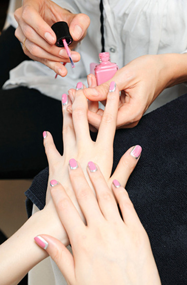 speaknoworshutitup:  Chanel debuts couture french manicure | Harper's BAZAAR on We Heart It - http://weheartit.com/entry/56635212/via/Machita1102