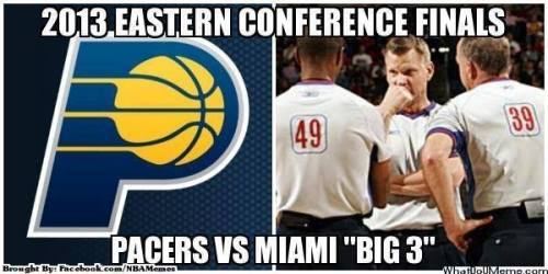 thenbamemes:  Pacers vs. Miami!