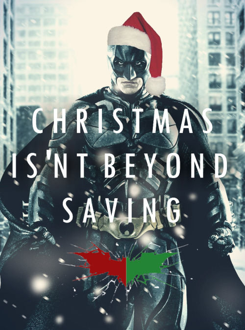 dcu:  Christmas isn't beyond saving. (via: littlehandgernade)