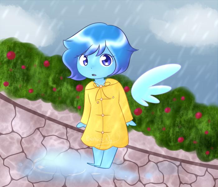 Smol Lapis in a raincoat~ (。◕‿◕。)
