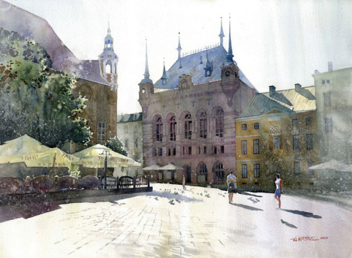 Watercolor Paintings by Grzegorz Wrobel