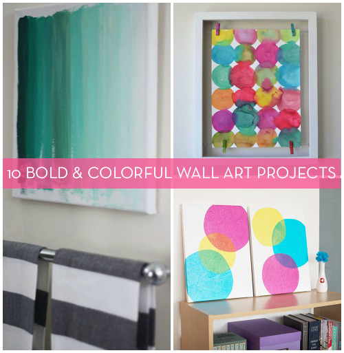 niftyncrafty:  10 DIY Bold & Colourful Wall Art Projects