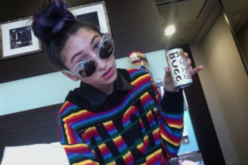 WOW i miss tokyo soooooo much heres me in my hotel drinking the best canned coffee ever its the only coffee thats made me jittery!