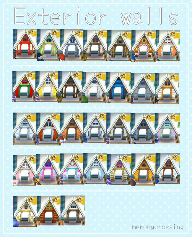 Animal Crossing QR Code Blog, House Exterior Walls