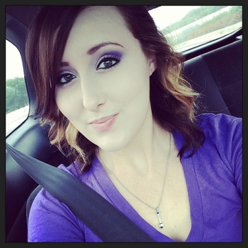 Purple shirt, purple nails, purple makeup, and my spoon necklace! 💜 #worldIBDday