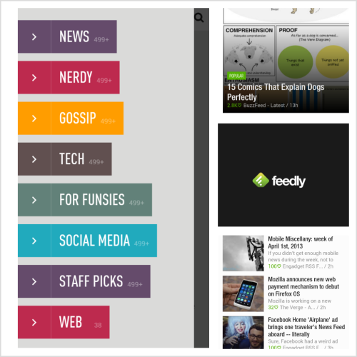 Diggin this Feedly bidness. So long, Google Reader!