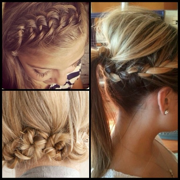 I love this simple styles with a #twist! #Braids, #knots, and #loops… Do you have a favorite? How do you like to put a twist on your #hairstyles? #phamexpo  (Image credit: weheartit.com)