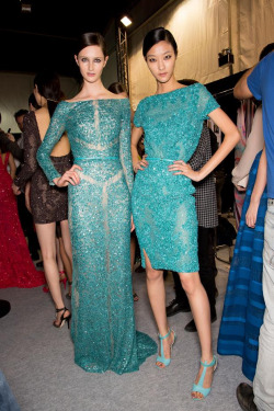 zarman:  Backstage at elie Saab 2013