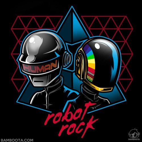 """Robot Rock"" now available on Redbubble! http://www.redbubble.com/people/bamboota/works/10216626-robot-rock #DaftPunk"