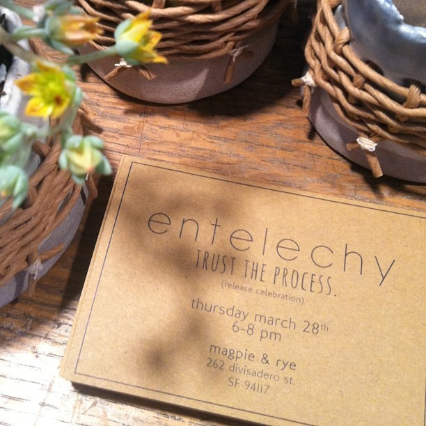 Come visit us tomorrow from 6-8 and celebrate the launch of entelechy herbal tinctures and other goods. You can visit entelechyheals.com for more info and to learn more about the maker, @cielgrove . Hope to see you there! (at M + R WORKSHOP)