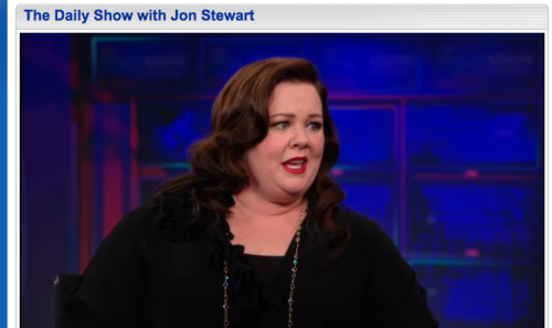 Me? I love Melissa McCarthy. Last week she stopped by The Daily Show and shared how she got started. She credits her sheer ignorance for giving her the courage to first start doing stand-up. As writers, how do we tap into that sheer ignorance we had when we were young? Click through to watch the clip and read more!