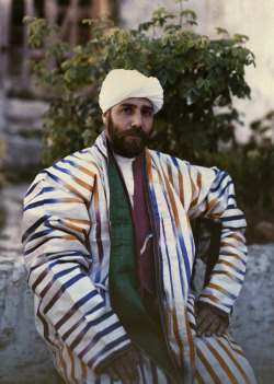 natgeofound:  Sheik Jacob Boukhari poses for a photograph in Jerusalem, December 1927.Photograph by Maynard Owen Williams, National Geographic