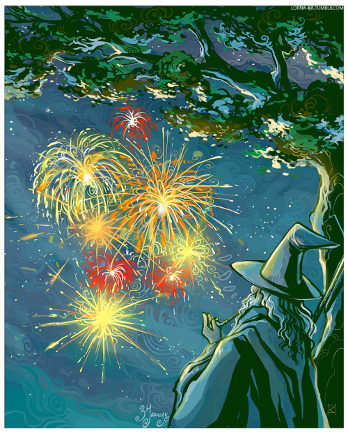 lorna-ka:  Today is J.R.R.Tolkien's birthday Some fireworks are in order :>