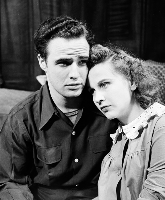 marlonbrando:  Marlon Brando and Kim Hunter during the stage production of A Streetcar Named Desire, 1947.