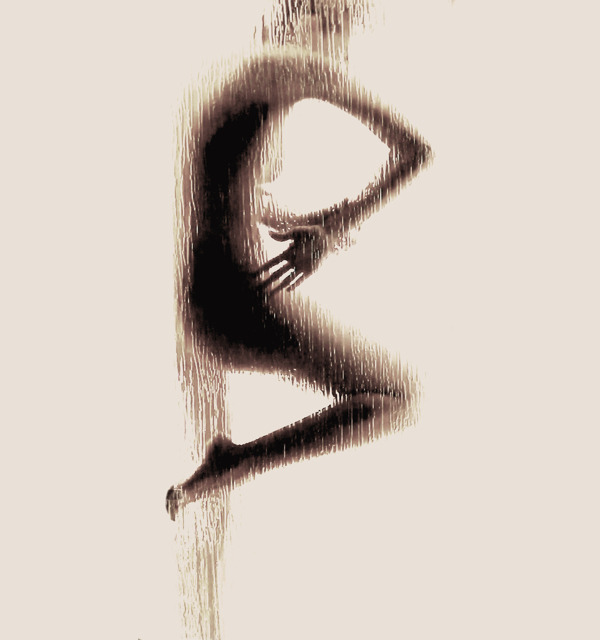 "artchipel:  Anastasia Mastrakouli (Greece) - Naked Silhouette Alphabet Anastasia Mastrakouli is a Greek photographer and  student of Fine Arts and Cinematography at Ionian University, Greece. Her photo Series ""Naked Silhouette Alphabet"" was accomplished by having the model press herself against a pane of wet glass. Mastrokouli said the goal of the project is to, ""highlight the dialectical relationship between anatomy and visual arts."" [more Anastasia Mastrakouli 