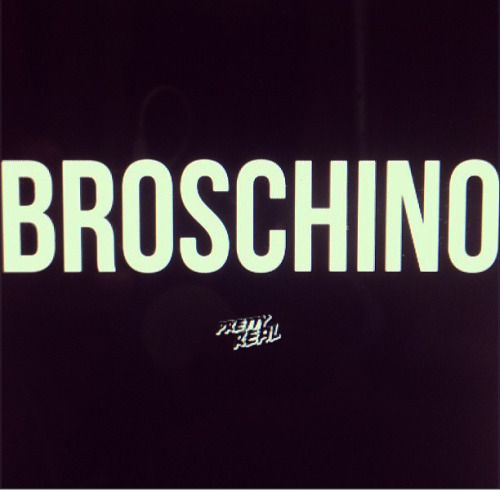 BROSCHINO BLACK TEE | LAST FEW SIZES BRUH BRUH COP THAT http://prettyreal.bigcartel.com