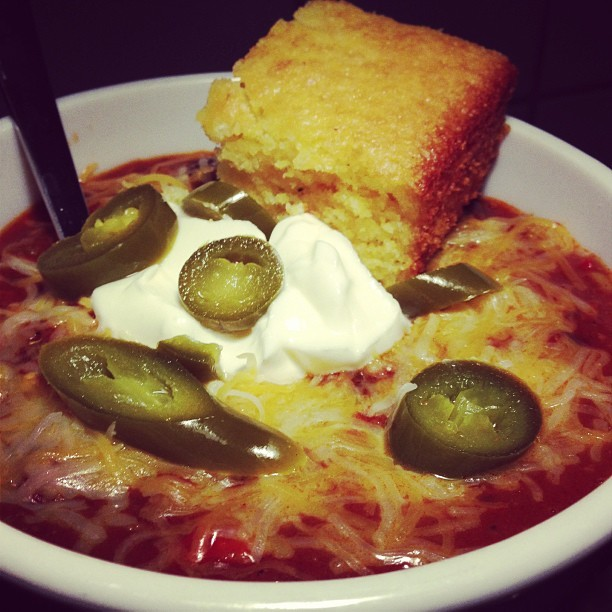 Homemade Chili awesomeness… day 2 (at Château Cerrito)