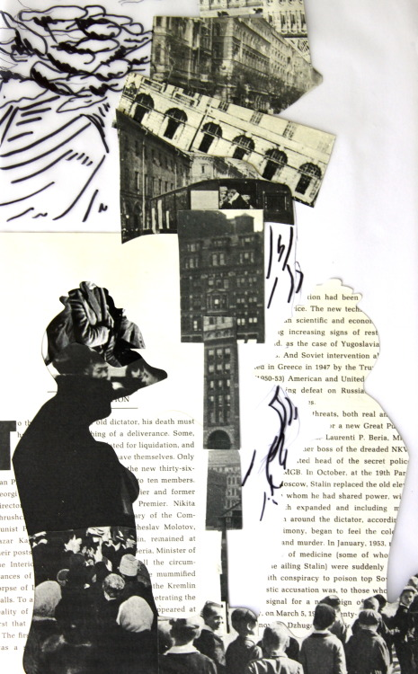 Collages from Life drawing.