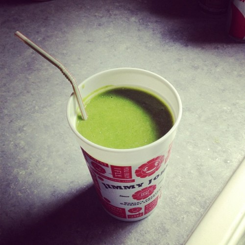 Spinach smoothie. Don't knock it until you try it