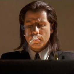 #JohnTravolta #VincentVega #pulpfiction by marcocappai http://bit.ly/XOdGLf