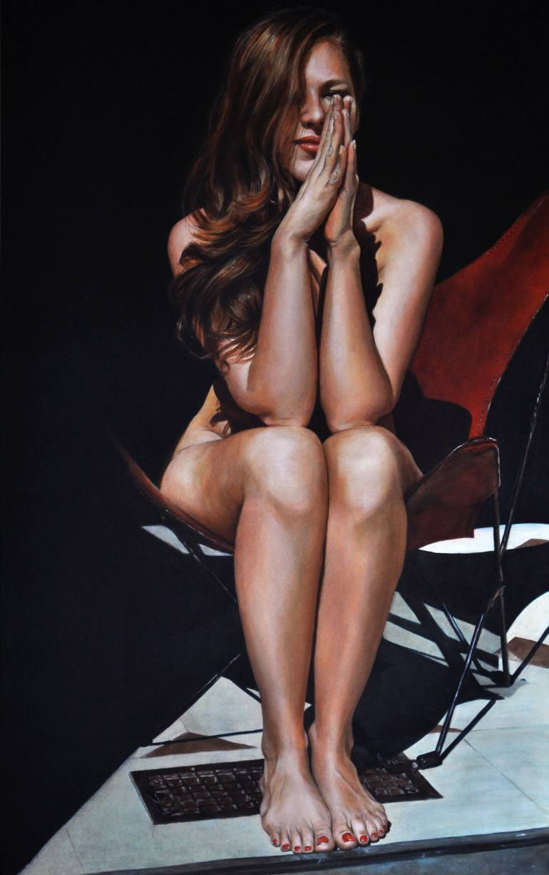 artbeautypaintings:  Nicole at Mille Fleurs III - Victoria Selbach