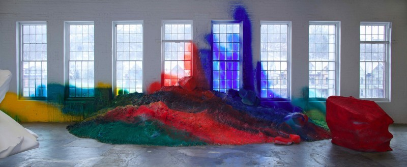 contemporaryartdaily:  Katharina Grosse at MASS MoCA