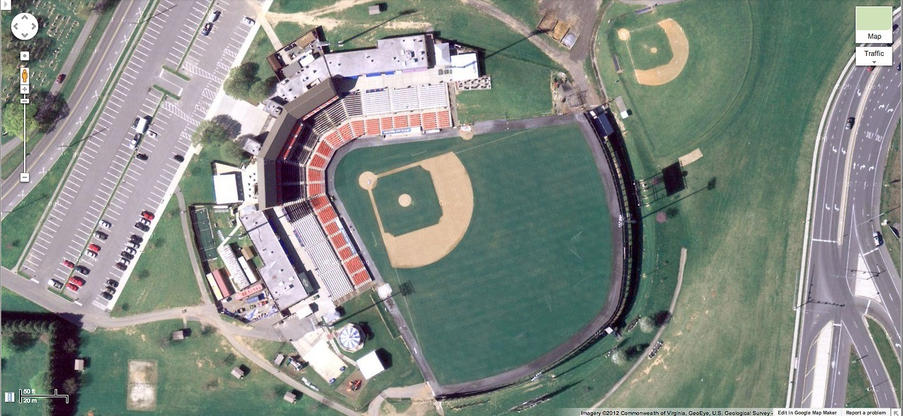 Harry Grove Stadium. Frederick, Maryland. Home of the Frederick Keys, Class-A Advanced affiliate of the Baltimore Orioles.
